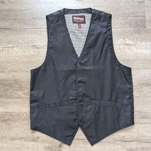 Men's Black Pin Stripe Vest